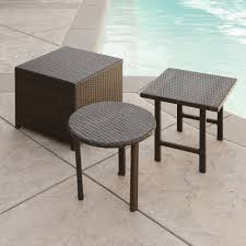 Dark Wicker Patio Furniture by 28 Wicker Patio Tables Amazon Com Strathwood Griffen All