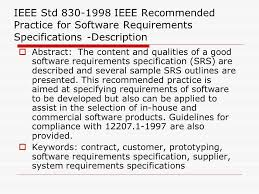 unit ii chapter software requirement specification srs ppt