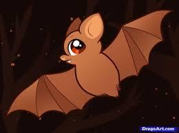 bat drawing for kids