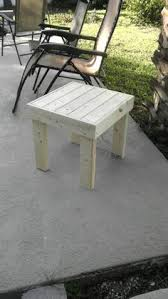 Patio End Table Plans Free by 2x4 End Table With Walnut Stain Woodworking Projects Pinterest