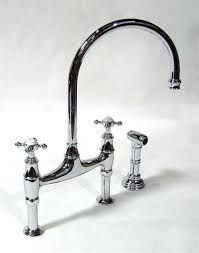 bridge style kitchen faucet bridge kitchen faucets lowes rohl country kitchen polished nickel