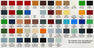chart model paint color chart
