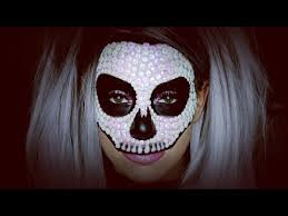 sequin skull halloween make up tutorial youtube