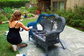 container gardening idea how to recycle an old wicker loveseat