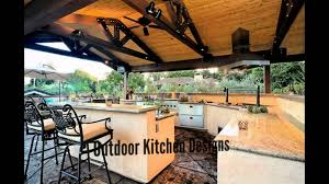 outdoor kitchen designs youtube within outdoor kitchen covered