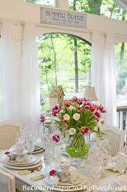 Easter Table Decorations Australia by Easter Table Spring Setting With Tulip Centerpiece And Pottery