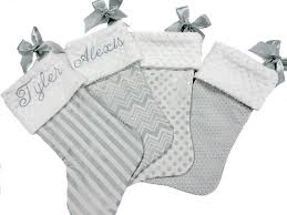 silver chevron stripe polka dot christmas stockings u2013 baby boo u0027s
