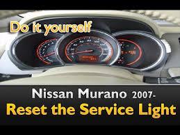 service engine light on nissan nissan murano service light reset guide youtube