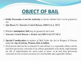 bail bureau bail in ndps act
