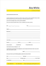Maintenance Request Form Template by Real Estate Leading Edge Wa Tenant Maintenance Request Form