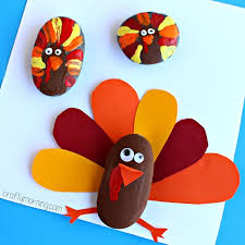 decorate rocks as turkeys thanksgiving craft crafty morning