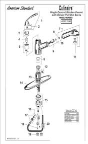 pull out kitchen faucet parts order replacement parts for american standard 4137 100 culinaire
