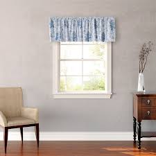 straight valance in window treatment hanging together with blinds