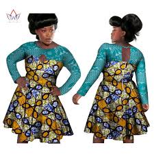 online shop brw bazin riche african wax print dresses cotton lace