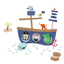 amazon com lambs ivy little pirates wall appliques baby