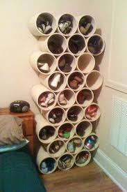 shoe organizer how to build a low cost shoe rack using pvc pipes macgyverisms
