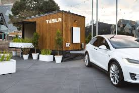 tesla tiny house hits the road in australia curbed