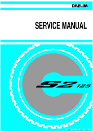 daelim s2 125 scooter service manual ebay