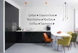 Coffee Themed Kitchen Decor With Simple Wall Sticker Decolovernet - Simple kitchen decor