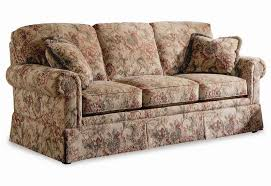 traditional sofas with skirts sherrill traditional lawson sleep sofa with rolled arms and skirt