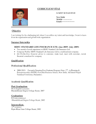 Resume Format For Freshers Bca Curriculum Vitae Samples For Bca Freshers
