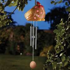 solar powered wind chime light wind chime chicken hen bird solar powered light up colour changing