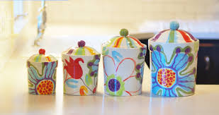 kitchen canister set ready to ship floral canister pottery