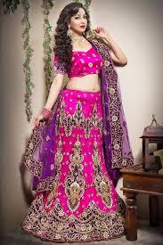 rani pink colour rani color wedding bridal net lehenga choli from kalaniketan com