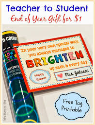 end of year gift for students w free printable tag save time and