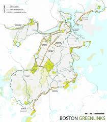 Boston Public Transportation Map by Boston Green Links Boston Gov