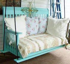 15 creative old crib repurpose ideas porch swings repurpose and