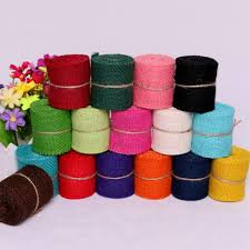 colored burlap ribbon 9 colors new year linen diy wrapping rolls candy color burlap