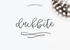 calligraphy font duckbite swash calligraphy font