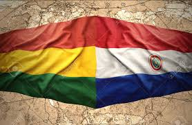 Paraguayan Flag Waving Bolivian And Paraguayan Flags On The Of The Political