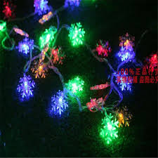 Outdoor Snowflake Lights 8m 50led String Lights White Snowflake Window Garlands Decorations