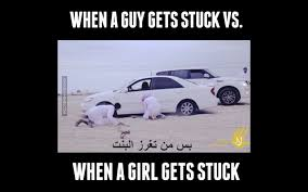 Girl Car Meme - when a guy gets stuck vs when a girl gets stuck youtube