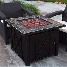 Patio Fireplace Table Propane Fire Pit Ebay