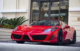 picture ferrari 458 italia red auto front