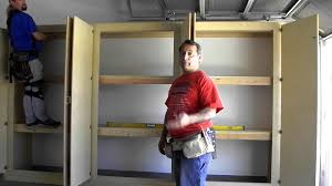 Free Woodworking Plans Garage Cabinets by Sliding Door Garage Storage Cabinet Easy Woodworking Project To