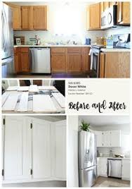 Oak Cabinet Kitchen Makeover - kitchen makeover we painted our dark wood cabinets white using