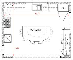 Square Floor L L Shaped Kitchen Floor Plans With Island And Some Stool Also