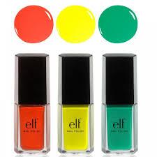amazon com e l f 3 piece nail polish set beautifully bright