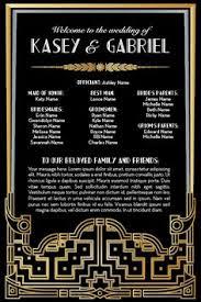 deco wedding program black gold great gatsby deco wedding programs more wedding