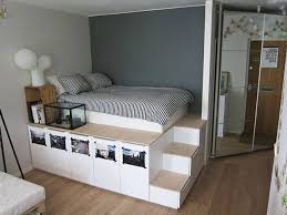How To Build A Platform Bed With Headboard by Diy Platform Bed With Shelves Storage Decorations