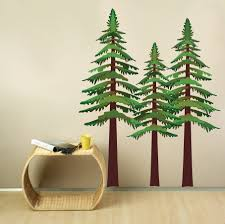 36 pine tree wall decal pop decors squirrels and pine trees pine tree wall decal