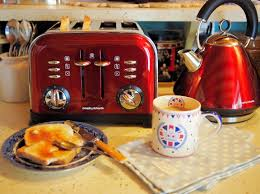 Morphy Richards Accents Toaster Red Kettle And Toaster Set And A Jubilee Breakfast Lavender And