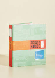 ticket stub album ticket stub diary modcloth