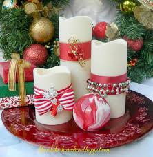 decorate candles with christmas jewelry adoro la navidad