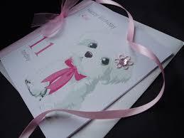 cute white dog birthday card handmade cards pink u0026 posh