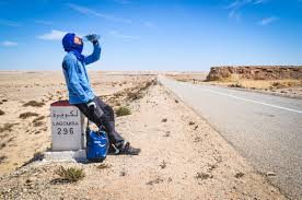 food and water to cycle across the sahara desert freewheely